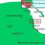 Gdynia Oksywie - położenie