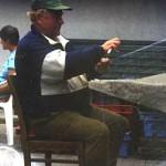 Oksywski rybak przy pracy