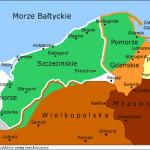 Przybliżony zasięg kaszubszczyzny około 1180 r. wg J. Humnickiego Mapa oparta na pracy prof. dr. hab. Józefa Borzyszkowskiego