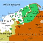 Przybliżony zasięg kaszubszczyzny około 1640 roku, wg: I. Gieystrorowej i W. Buchholza