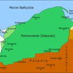 Pomorzanie - Kaszubi 800 - 950 Mapa oparta na pracy prof. dr. hab. Józefa Borzyszkowskiego Historia Kaszubów / Gdańsk 1999