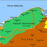 Przybliżony zasięg kaszubszczyzny około 925 r. wg: J. Humnickiego Mapa oparta na pracy prof. dr. hab. Józefa Borzyszkowskiego